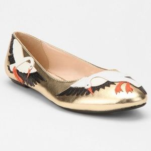 Cooperative for Urban Outfitters Gold Swan Flats,9